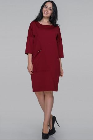 Платье «Орана» бордового цвета