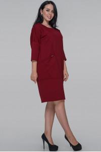 Сукня «Орана» бордового кольору