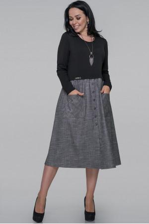 Сукня «Лавінія» сірого кольору з чорним