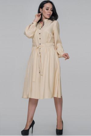 Платье-рубашка «Генвиллэ» бежевого цвета