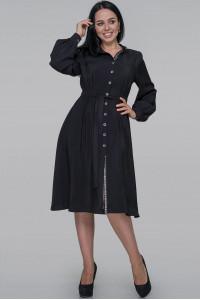 Сукня-сорочка «Генвілле» чорного кольору