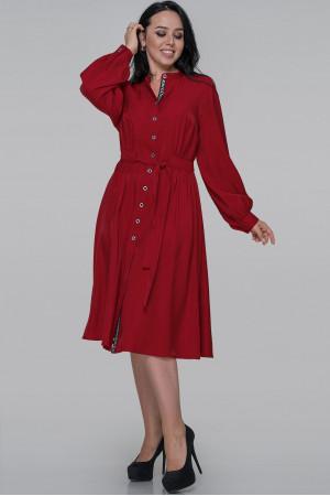 Сукня-сорочка «Генвілле» червоного кольору