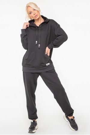 Спортивный костюм «Рэйв» черного цвета