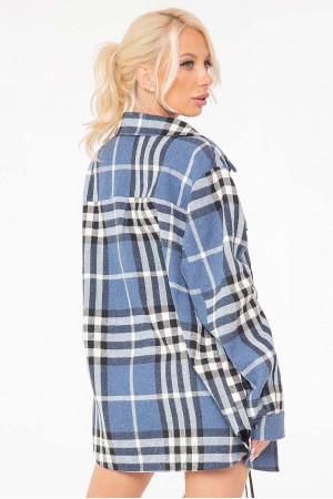 Рубашка «Кантри» цвета джинс