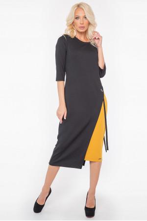 Сукня «Тріні» чорного кольору з гірчичним