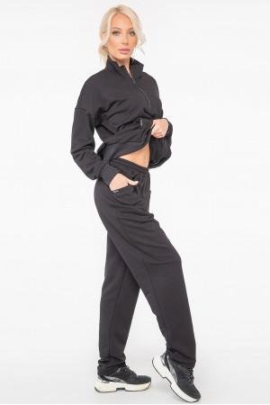 Спортивный костюм «Фредерика» черного цвета
