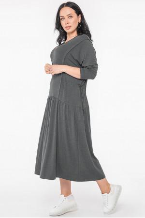 Платье «Гойя» темно-серого цвета