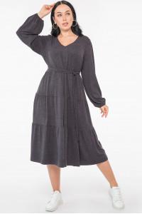 Платье «Джемма» темно-серого цвета