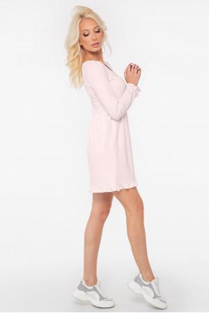 Платье «Миретта-мини» бледно-розового цвета