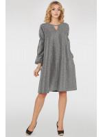 Платье «Миртал» серебристо-серого цвета