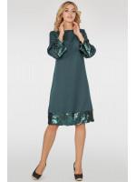 Платье «Мюрель» темно-зеленого цвета