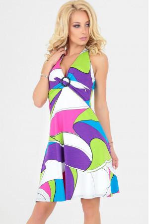 Платье «Мэрил», цвет малиновый с голубым