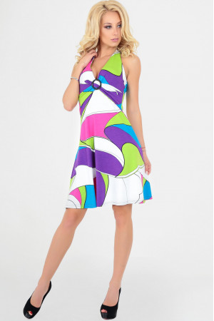 Сукня «Меріл», колір малиновий з блакитним