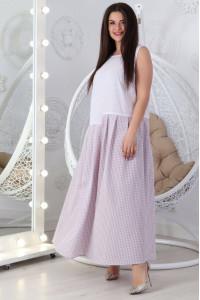 Платье «Арика» белого цвета