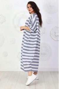 Платье «Адена» в серую полоску