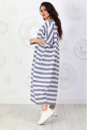 Сукня «Адена» у сіру смужку
