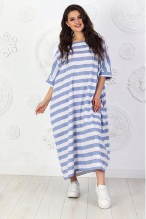 Платье «Адена» в джинсовую полоску