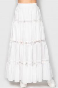 Юбка «Клайс» белого цвета