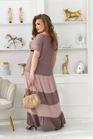 Сукня «Ріка» кольору мокко з бежевим