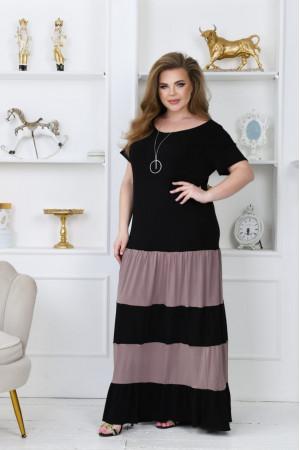 Сукня «Ріка» чорного кольору з мокко