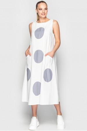 Сукня «Ферн» біло-сірого кольору