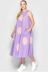 Платье «Ферн» лилово-розового цвета
