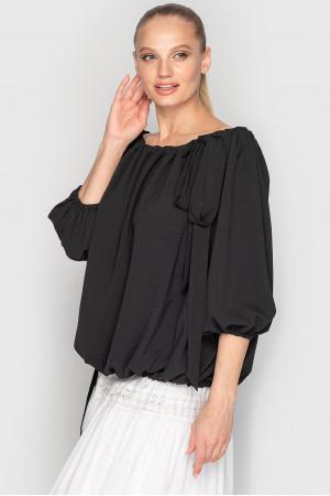 Блуза «Реджи» черного цвета