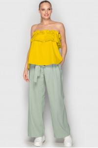 Блуза «Веста» гірчичного кольору
