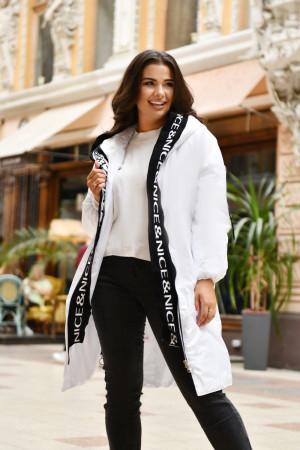 Куртка «Мэрайя» белого цвета