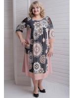 Сукня «Лукошко» кольору пудри