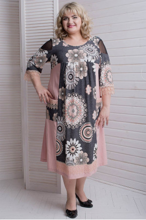Платье «Лукошко» цвета пудры