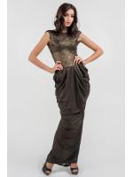 Сукня «Джангл» кольору чорного золота