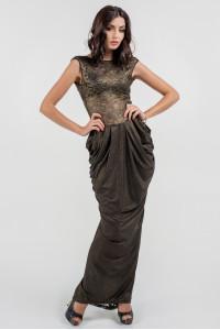 Платье «Джангл» цвета черного золота