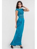Платье «Джангл» цвета морской волны