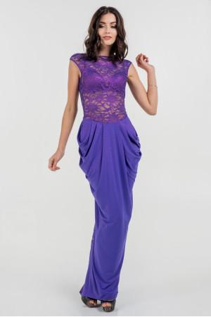 Платье «Джангл» фиолетового цвета