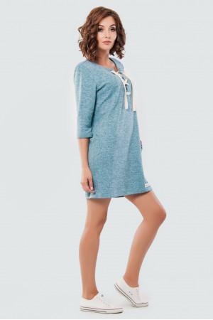 Платье «Луна» голубого цвета