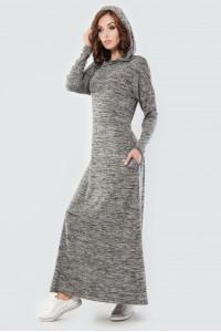 Сукня «Вектель» кольору чорний меланж