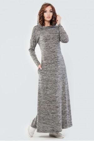 Платье «Вектель» цвета черный меланж