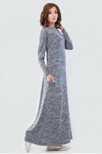 Платье «Вектель» цвета синий меланж