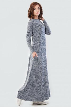 Сукня «Вектель» кольору синій меланж