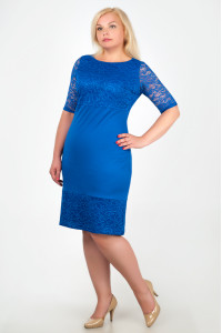 Платье «Сильвия» цвета электрик