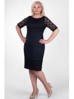 Платье «Сильвия» темно-синего цвета