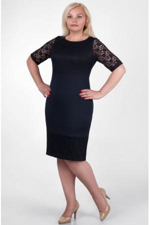 Сукня «Сильвія» темно-синього кольору