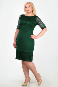Платье «Сильвия» зеленого цвета