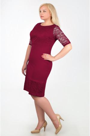 Платье «Сильвия»  бордового цвета