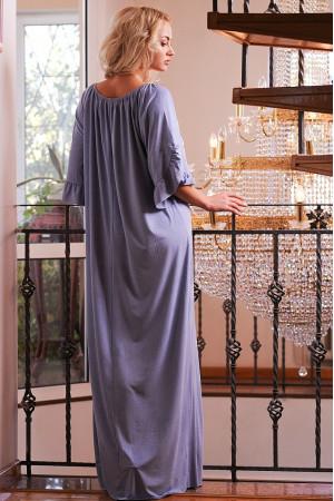 Платье «Джена» серо-голубого  цвета