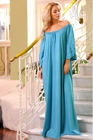 Платье «Джена» бирюзового цвета