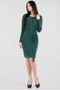 Платье «Тэми» зеленого цвета