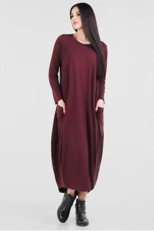 Платье «Алкмена» бордового цвета