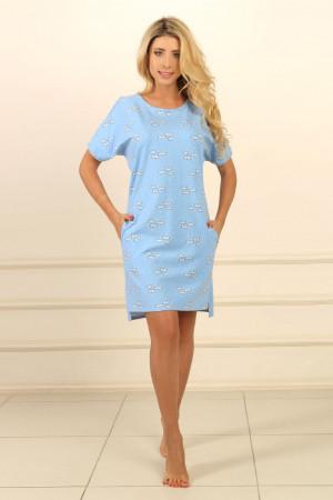 Ночная рубашка НС-М-91 голубого цвета